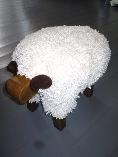Sheep Footstool